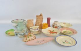 A quantity of assorted ceramics, including Art Deco and other early 20th Century examples. Makers