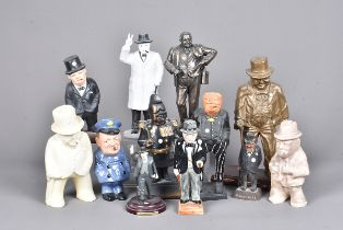 A group of Winston Churchill figures, to include one entitled 'Winston the Winner', a Limited