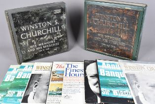 Vinyl Records, A selection of vinyl records of Winston Churchill, including His Memoirs and