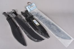 A Cold Steel Smatchet, together with a Cold Steel Jungle Machete, plus two other examples (parcel)
