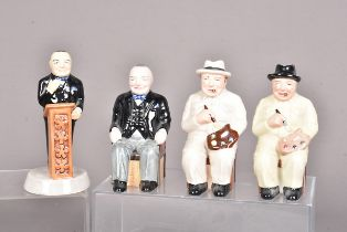 Four Manor Limited Edition Figures of Mini Churchill, to include two 'The Artist' slightly different