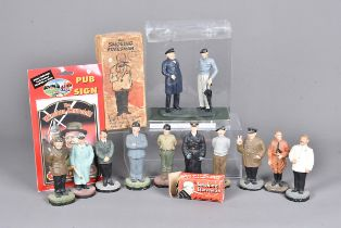 A Vintage 'The Smoking Statesman' figure, in box, together with smaller novelty example, plus a