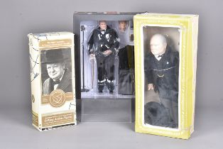 A vintage Effanbee figure of Winston Churchill, together with a Limited Edition Time capsule Toys