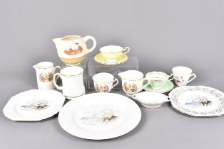 A large collection of Winston Churchill related ceramics, mainly table ware, comprising a Paragon