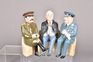 A 'Yalta Conference' prototype figure, in the form of Stalin, Churchill and Roosevelt all sat
