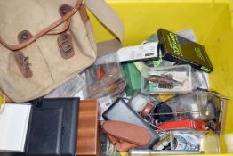 A large collection of fishing tackle and other items, to include, Flys, Floats, Lines, waistcoats, a