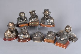 Heritage Sculptures, a selection of resin items from Heritage Sculptures, including a desk tidy, two