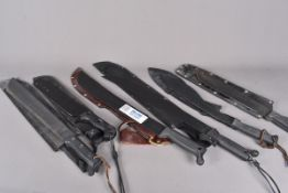 Two US Ontario Knife machete, together with a Magnum example, a Cold Steel Sout African example plus