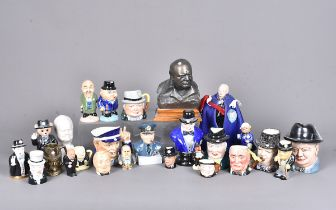 A collection of Churchill ceramics and other items, to include a Michael Sutty Limited Edition bust,