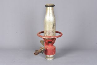 A vintage Pyrene Foam making branch pipe, maker's plaque to the front, approx. 46cm tall