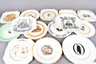 An assortment of Churchill related collectors plates, to include two Victorian period plates with
