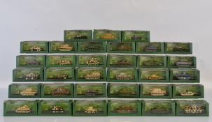 A quantity of Atlas Editions Ultimate Tank Collection models, all contained in plastic display cases