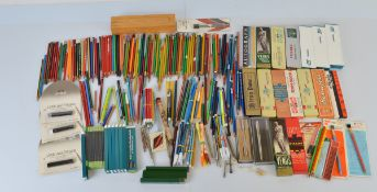 A quantity of boxed pencils, including two silver miniature propelling pencils, Parker 25, Venus