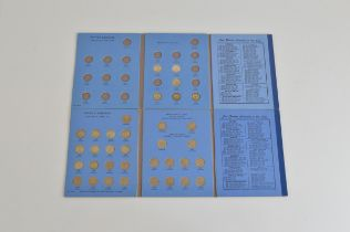 Two British Coin Collectors Sixpence albums, including 29 pre-47 examples, mostly complete.