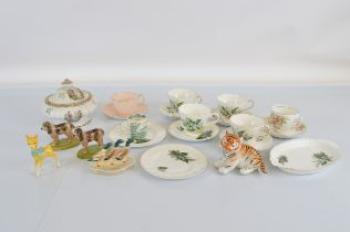 A quantity of assorted ceramics, including two Wage dog figures, Beswick Babycham deer, Beswick