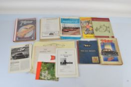 A mixed quantity of mid 20th century motor related ephemera, including BSA Service Sheets,