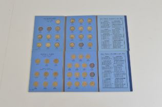 Two British Coin Collectors Shilling albums, including 17 pre-47 examples, mostly complete.