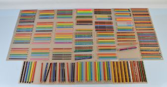 A collection of graphite pencils, mostly sharpened including, A W Faber Castell 1201, Staedtler,