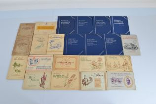 Seven British Coin Collectors albums, including Farthings, Threepence Brass, Pennies and