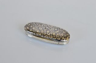 An early 19th century French enamel worked vanity case, with Paris strike marks, silver gilt