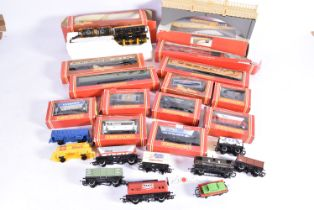 Hornby 00 Gauge Goods and Passenger Rolling Stock Accessories and quantity of Track, various Goods