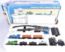 Hornby R9045 Thomas and Percy Double Train Set, comprising 0-6-0 Thomas, Annie and Clarabel, Percy