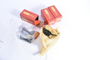 Tri-ang and Tri-ang-Hornby 00 Gauge Catenary accessories, R419 three Masts in carded plastic bag and
