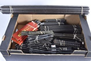 Large collection of Tri-ang and Tri-ang Hornby 00 Gauge Super 4 Track including points 3rd Radius