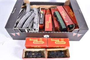 Late 1950's Tri-ang 00 Gauge Locomotives Rolling Stock and Accessories, R153 black 748 Saddle