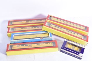 Hornby 00 Gauge Network Rail New Measurement Train Coaches and other yellow stock, five yellow