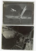 British Aviation Glass Plate Negatives 1930s, half-plate copy neg of Imperial Airways airliner, G-
