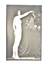 A mid-20th Century gelatin silver print Nude Study of a Young Woman, with crimped hair, standing