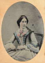 Cased Portrait Ambrotypes, quarter-plate - one in Littlefield, Parsons & Co Union case (6), F-G,
