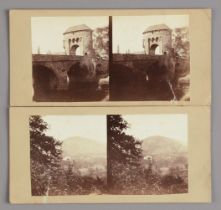 Stereoscopic Cards, UK topographical, including Waugh, Monmouth (2), some churches and cities,
