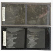 Stereoscopic Glass Diapositives, early 20th Century, Sark and other Channel Islands, some with label