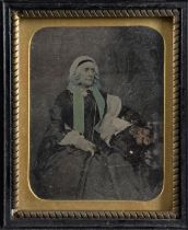 Wall-Hanging Portrait Ambrotypes, various sizes from ninth to quarter-plate, P-F (17)