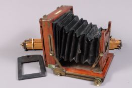 A W.F. Stanley Half Plate Field Camera, circa 1890, manufacturer's plate states STANLEYS PATENT