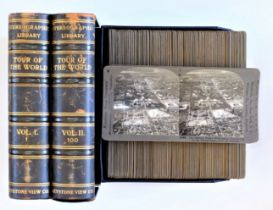 Keystone View Company Stereographic Library Tour Of The World 'Premium' Stereoscopic Card Set, in