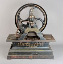 A mid-19th Century cast iron Magand press for printing Cartes de Visite, by 'Magand, Constructeur-