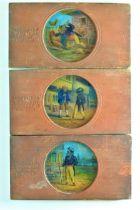 Mahogany-Mounted Carpenter and Westley Hand-Painted Magic Lantern Slides, part-story set of