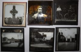 3¼in sq Magic Lantern Slides, photographic - amateur, probably lecture series - Canada, 1905-