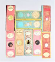 A Collection of late 19th Century Microscope Slides, paper-covered, small size (apx. 40), regular
