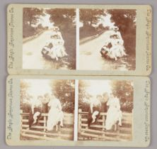 Stereoscopic Cards and Stereoscopes, 1890s-1900 period - Holmes-pattern stereoscopes (3), with cards