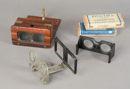 French Glass Stereoscopic Diapositives, 107mm x 45mm, including Lourdes, Italy, negatives, Paris,