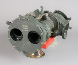 A mid-20th Century Ross military-issue 7 x 50 Binocular Gunsight Patt G 3 51, painted in crackle-
