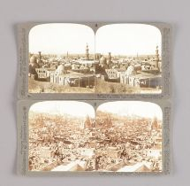 Underwood & Underwood Stereoscopic Cards, Around The World Through The Stereoscope Vol 1 and Vol 2