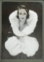 Silver prints of glamourous ladies, French and Spanish, including actress and dancer Edmonde Guy,