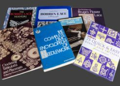 A quantity of books and magazines on lace making many from Batsford, and a quantity of Lace Guild