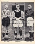 FOOTBALL CARDS A collection of 33 cards to include 7 Topical Times Uncut triples (1930's), 14 Cut