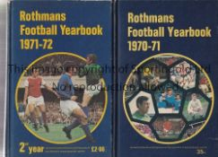 ROTHMANS The first two Rothmans Football Yearbooks both Hardbacks 1970/71 and 1971/72. Generally